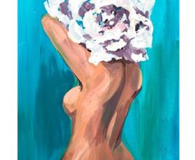 """Рисуем: Картина ''Flower head"""""""