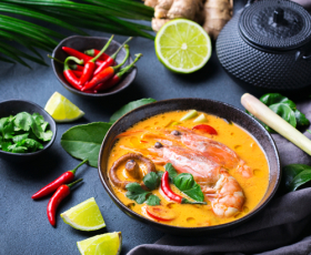 Однажды в Бангкоке: готовим Том ям, Пад тай, печеный банан