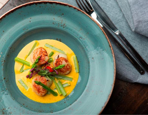 Fish & Schrimps: Креветки, Сёмга и Лимонный тарт
